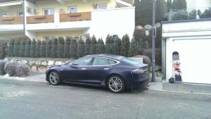 Aangekomen met Tesla in Kaprun